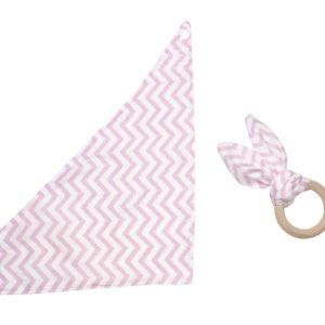 bijtring bandana roze