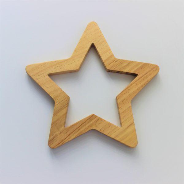 houten ster muurdecoratie